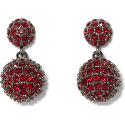 Vince Camuto Double Fireball Pave Drop Earrings