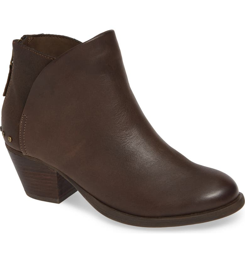 OTBT Compass Bootie, Main, color, BROWN LEATHER