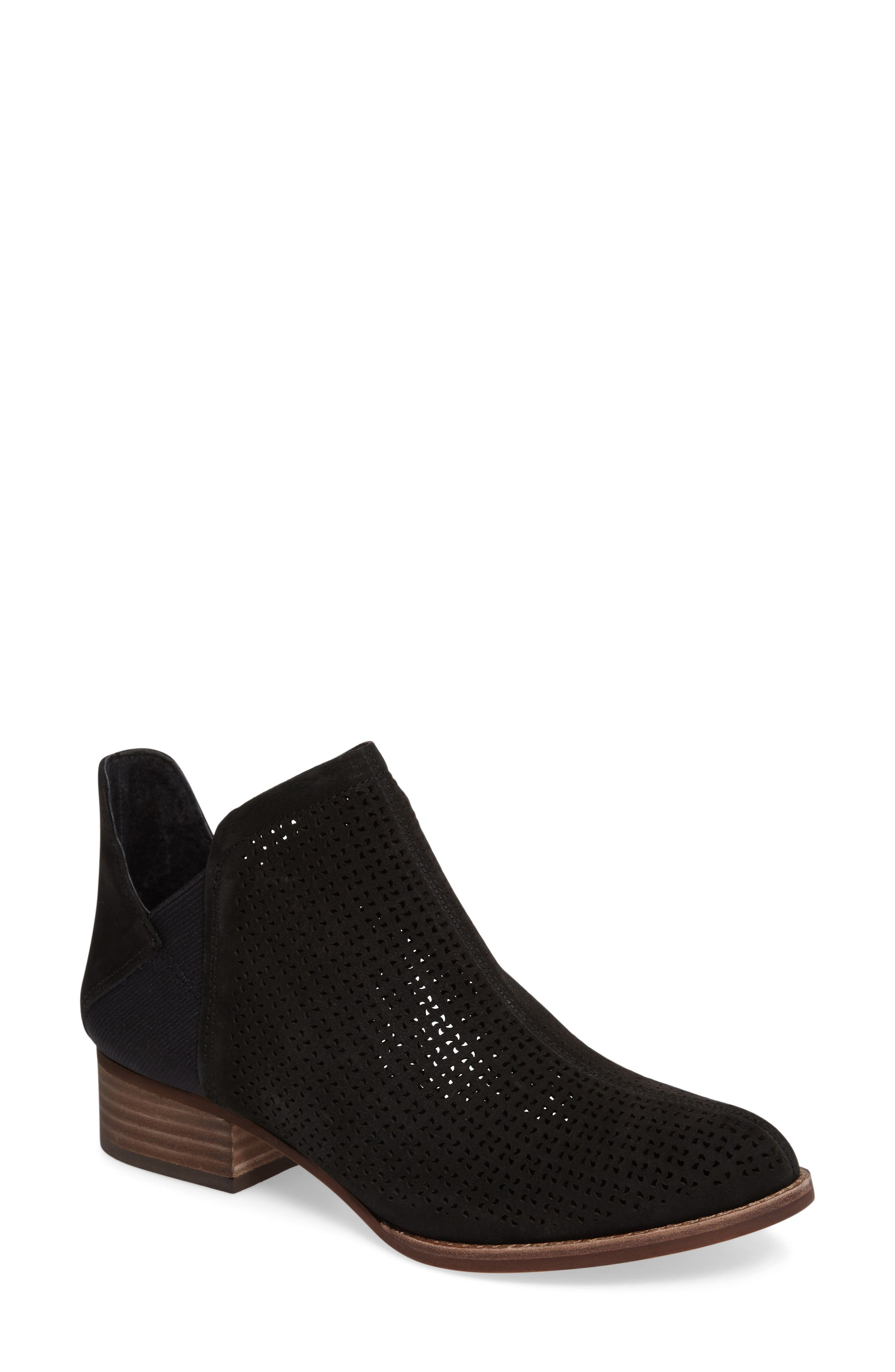 ,                             Celena Perforated Bootie,                             Main thumbnail 1, color,                             001