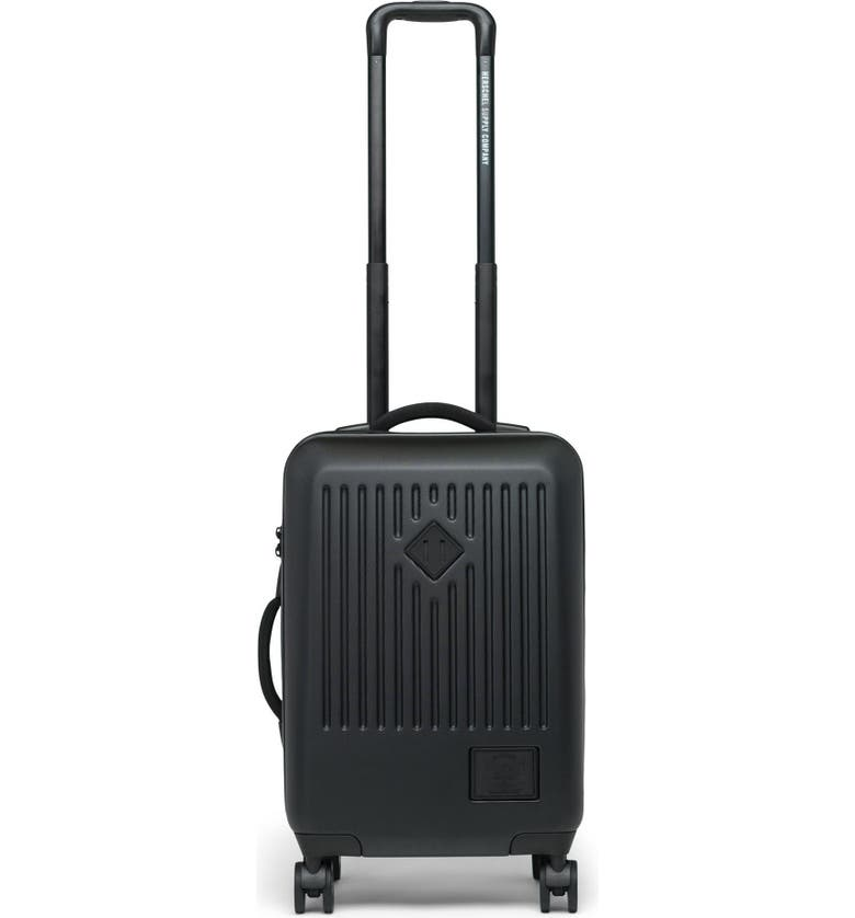 HERSCHEL SUPPLY CO. Small Trade 23-Inch Rolling Suitcase, Main, color, BLACK