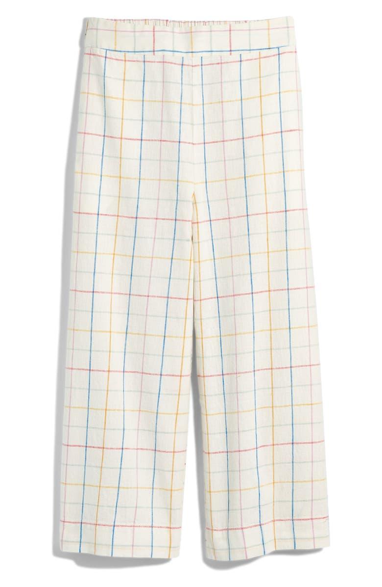 Madewell Huston Windowpane Pull On Crop Pants