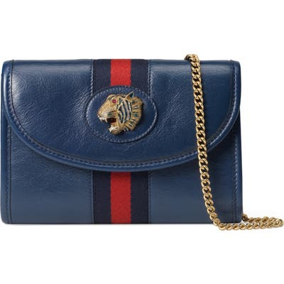Gucci Minileather Crossbody Bag - Blue