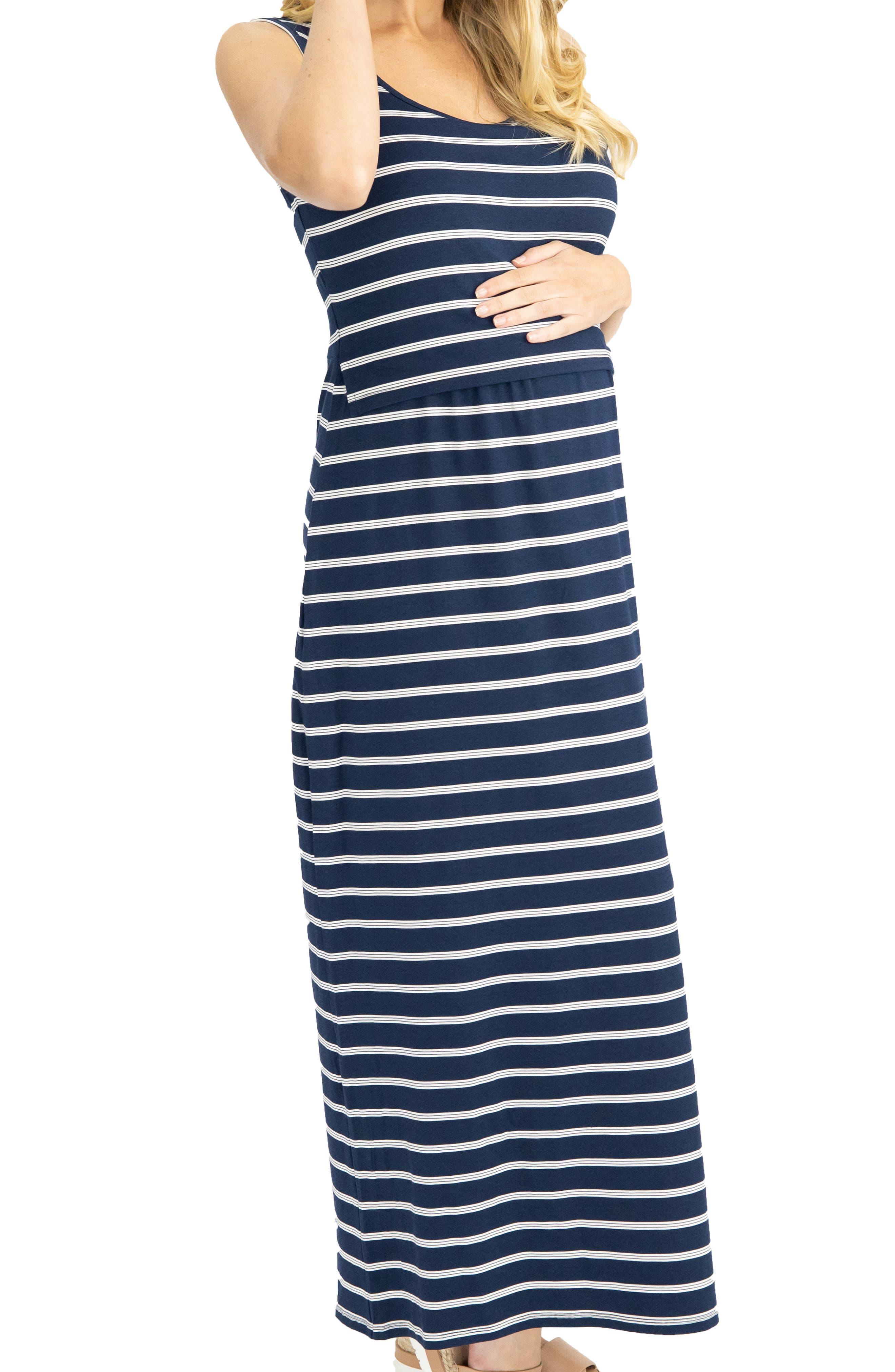 Busy Mama Maternity/nursing Maxi Dress