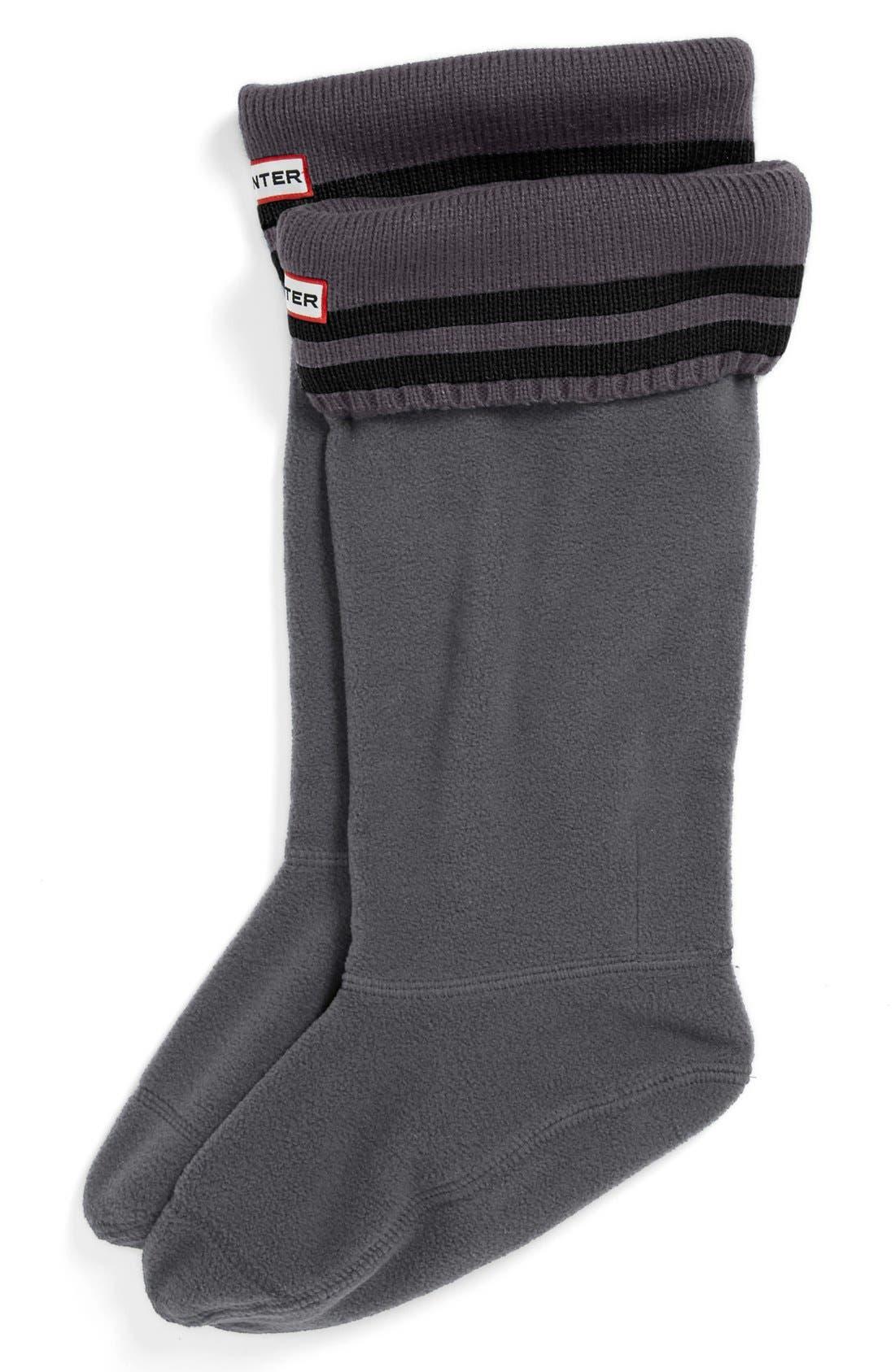 ,                             Tall Stripe Cuff Welly Socks,                             Main thumbnail 3, color,                             017