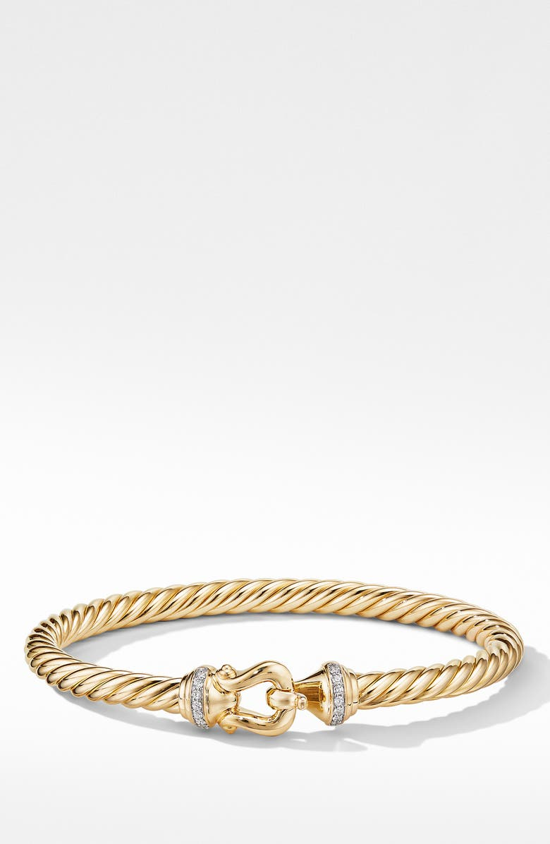 DAVID YURMAN Cable Buckle Bracelet with Diamonds, Main, color, GOLD/ DIAMOND