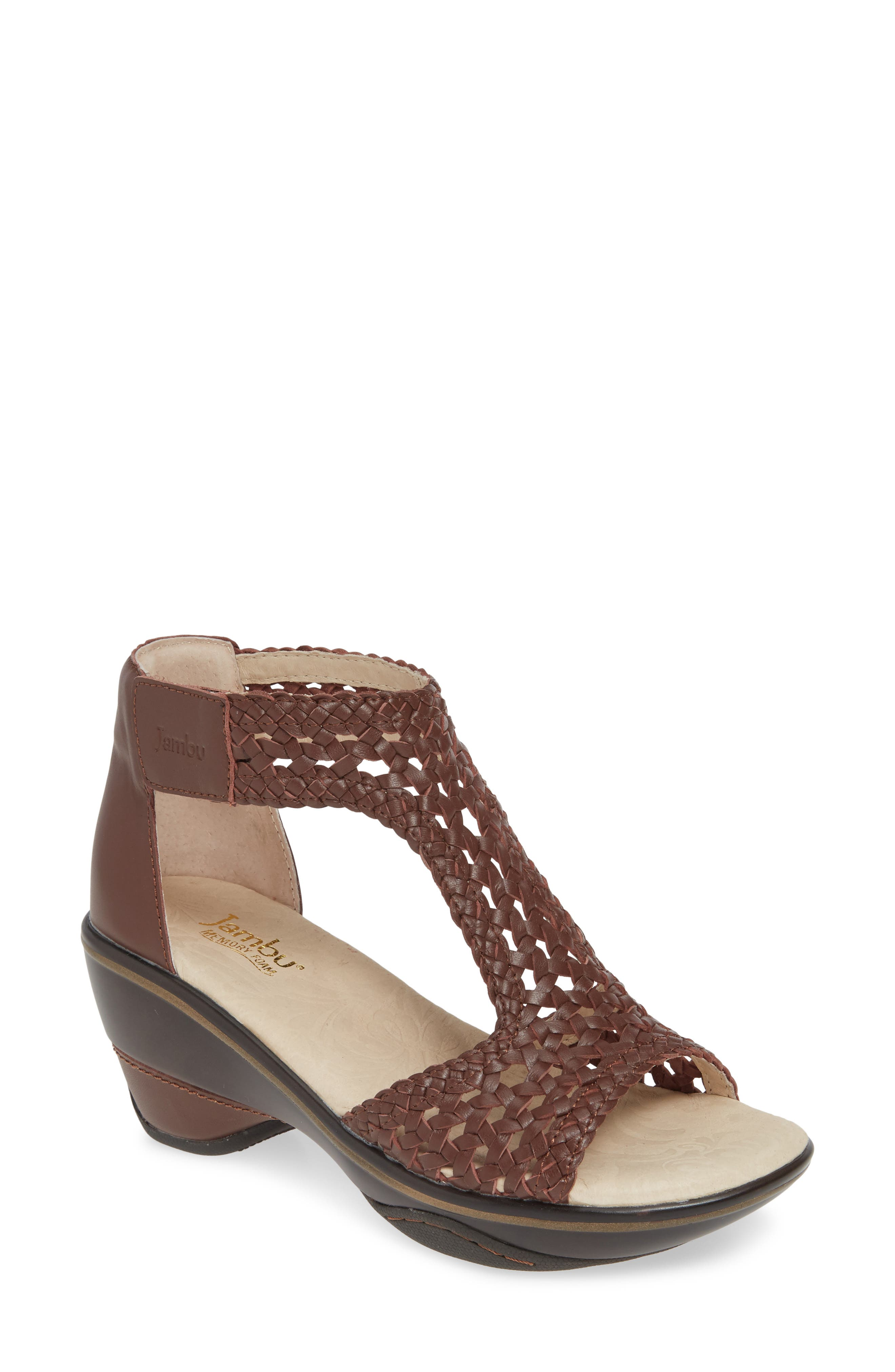 Jambu Sandy T-Strap Sandal- Brown