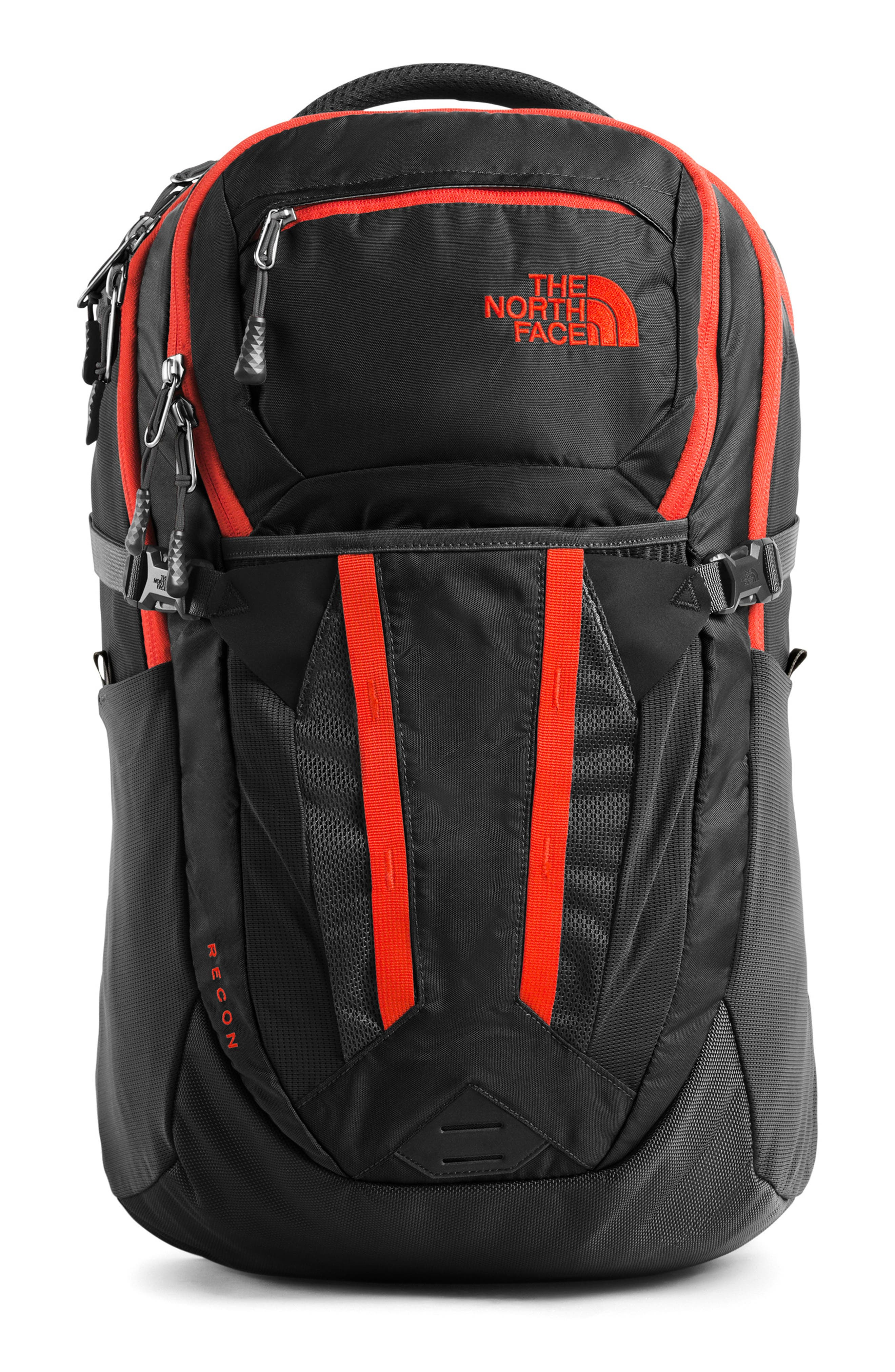 Recon Backpack, Main, color, ASPHALT GREY / FIERY RED