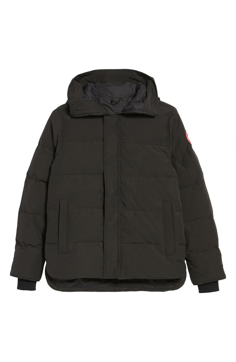 CANADA GOOSE 'MacMillan' Slim Fit Hooded Parka, Main, color, BLACK
