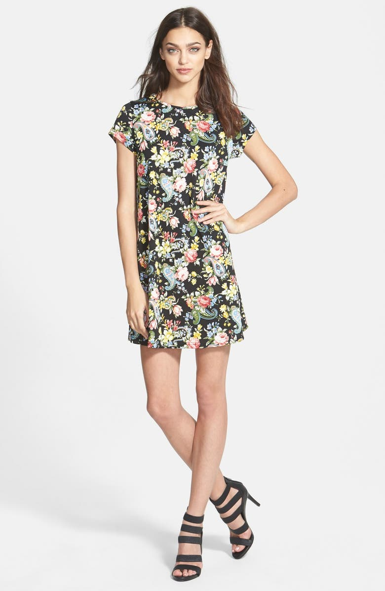 GLAMOROUS Shift Dress, Main, color, 001