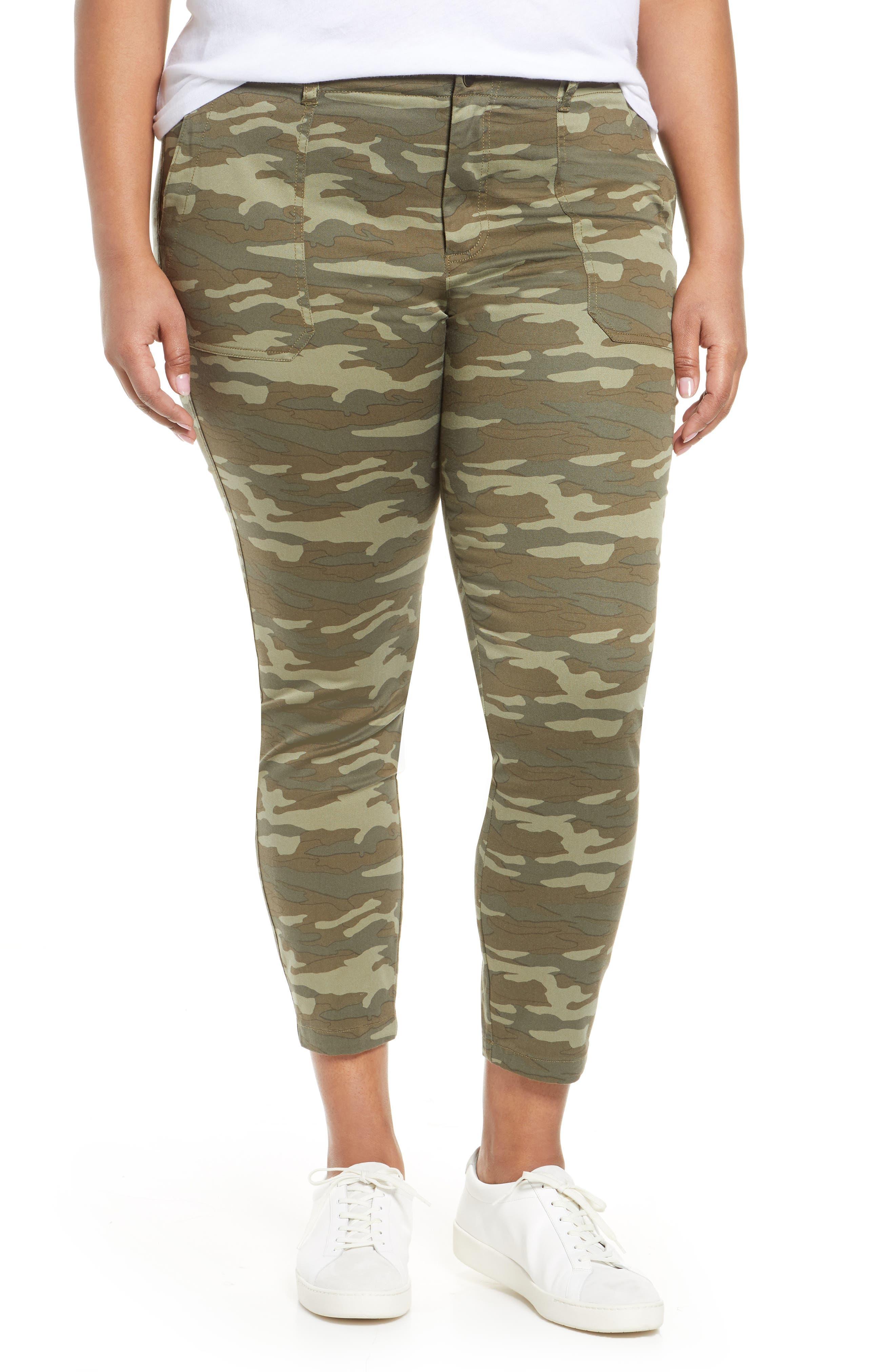 CaslonR Plus  Women's Caslon Crop Utility Pants,  18 - Green