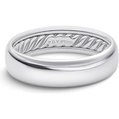 David Yurman Band Ring In Platinum