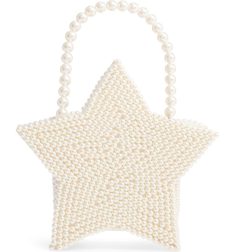 HALOGEN<SUP>®</SUP> x Atlantic-Pacific Star Pearl Handbag, Main, color, IVORY PEARL