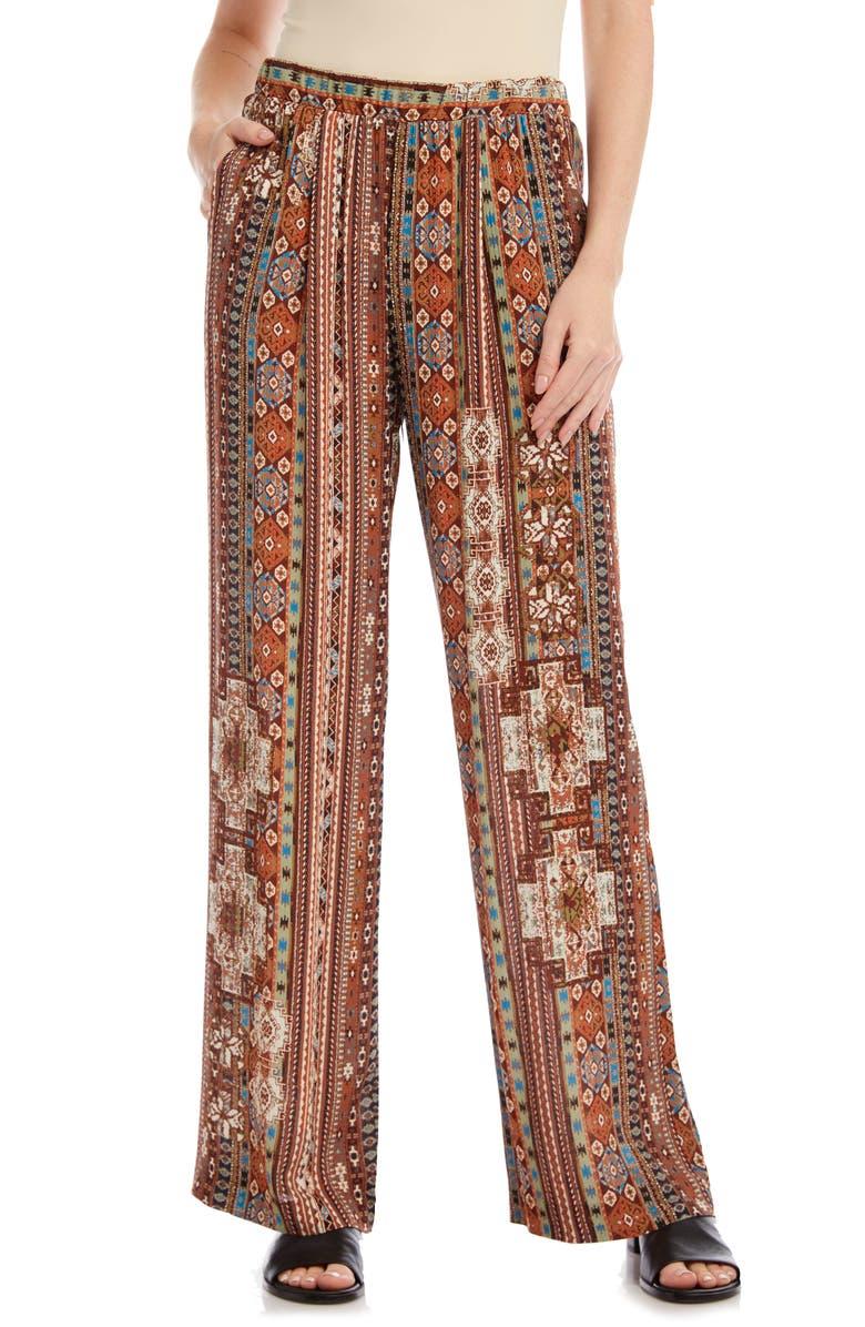KAREN KANE Island Print Wide Leg Pants, Main, color, PRINT