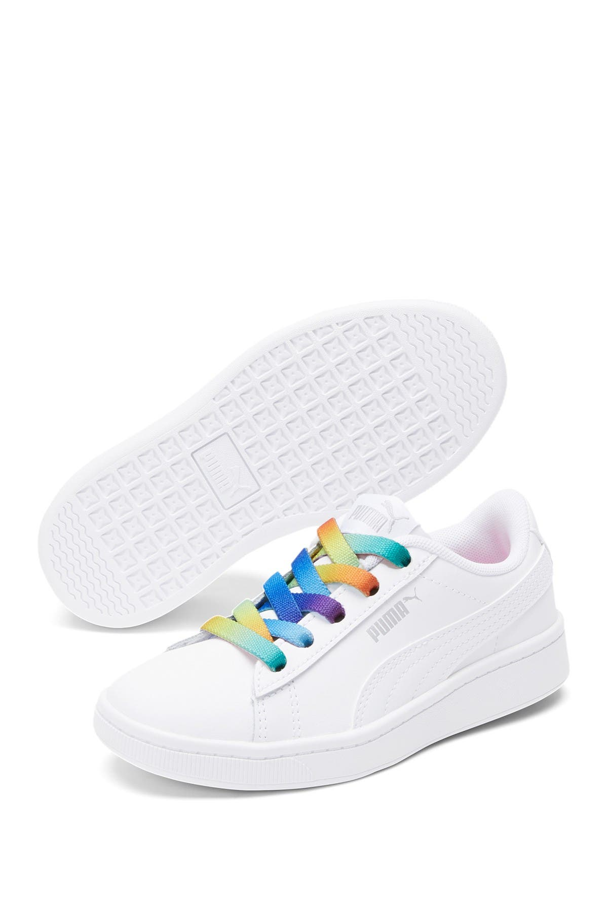Image of PUMA Vikky V2 Rainbow Lace-Up Sneaker