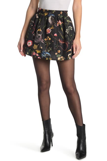 Image of RED Valentino Jacquard Print Mini Skirt