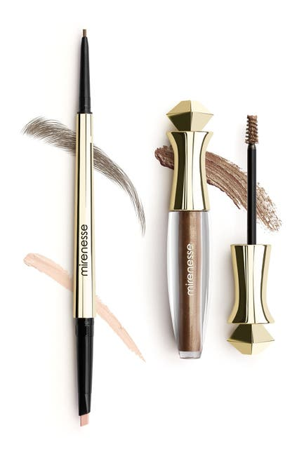 Image of Mirenesse All Day Micro Brow Pencil +Shaping Mascara - 2. Silk Brown