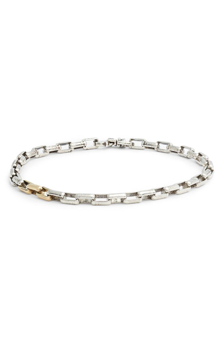 TITLE OF WORK Chain Link Bracelet, Main, color, SILVER/ GOLD