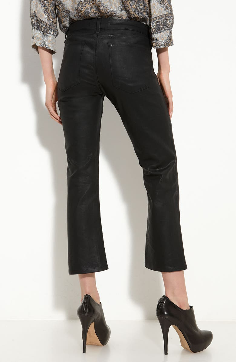 J BRAND 'Gigi' Coated Crop Stretch Jeans, Main, color, 001