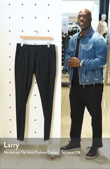 Flat Front Solid Wool Dress Pants, sales video thumbnail