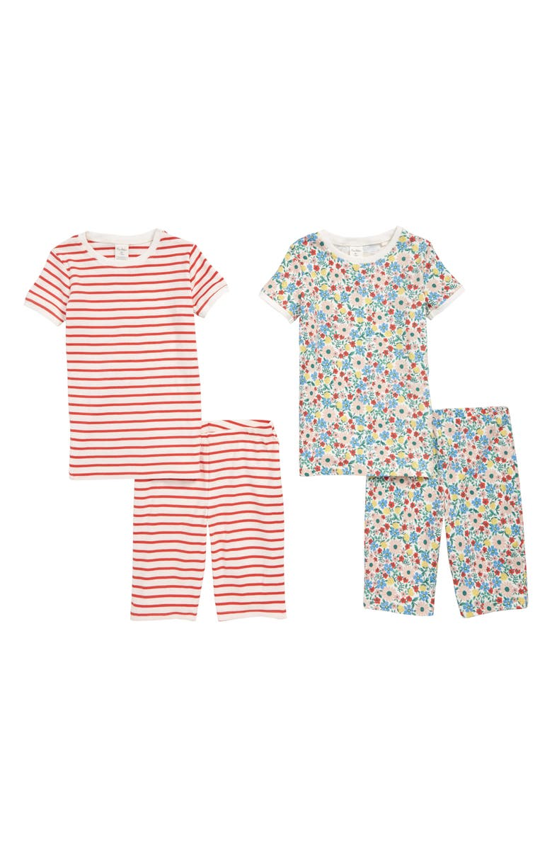 MINI BODEN 2-Pack Fitted Two-Piece Pajamas, Main, color, 600