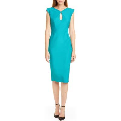 Zac Zac Posen Jujy Sheath Dress, Blue/green