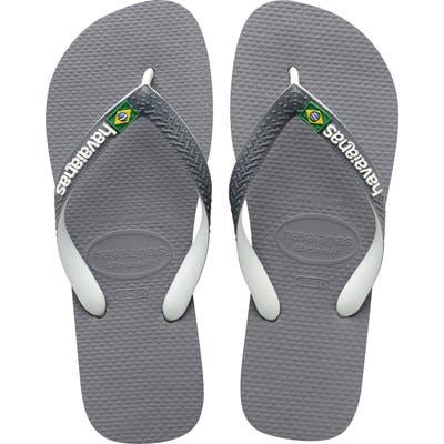Havaianas Brazil Mix Flip Flop, /8- Grey