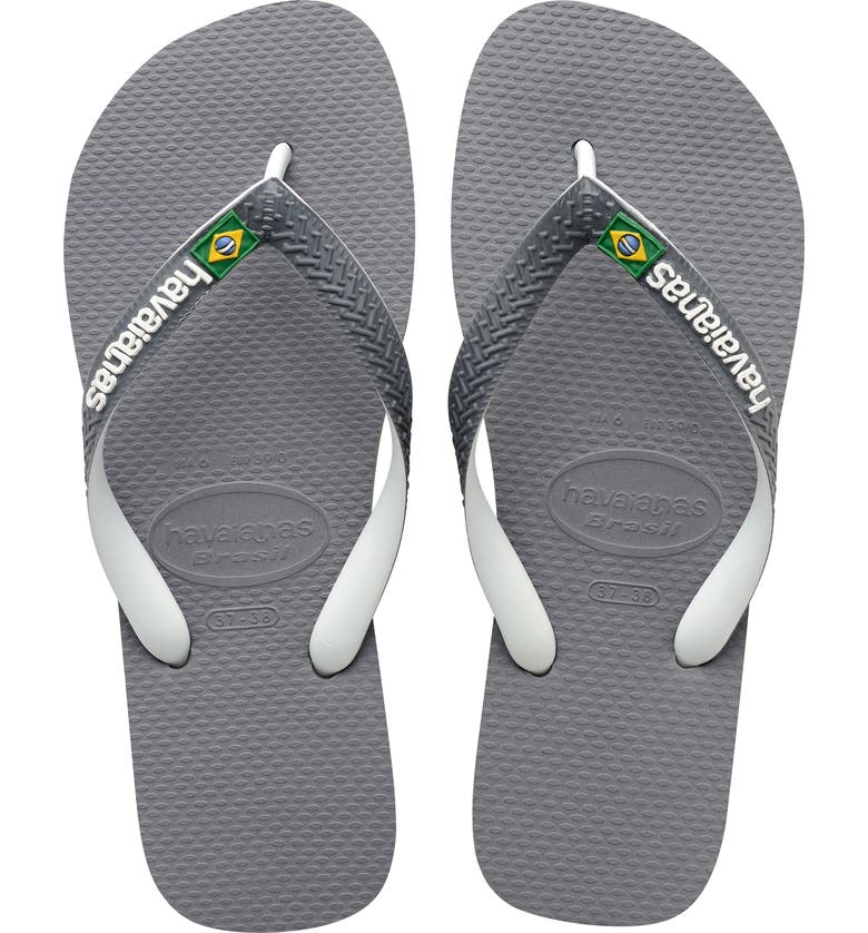 HAVAIANAS Brazil Mix Flip Flop, Main, color, GREY