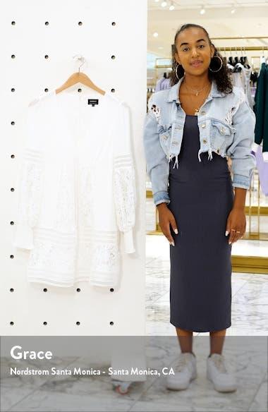 Mariah Long Sleeve Swiss Dot & Lace Babydoll Dress, sales video thumbnail