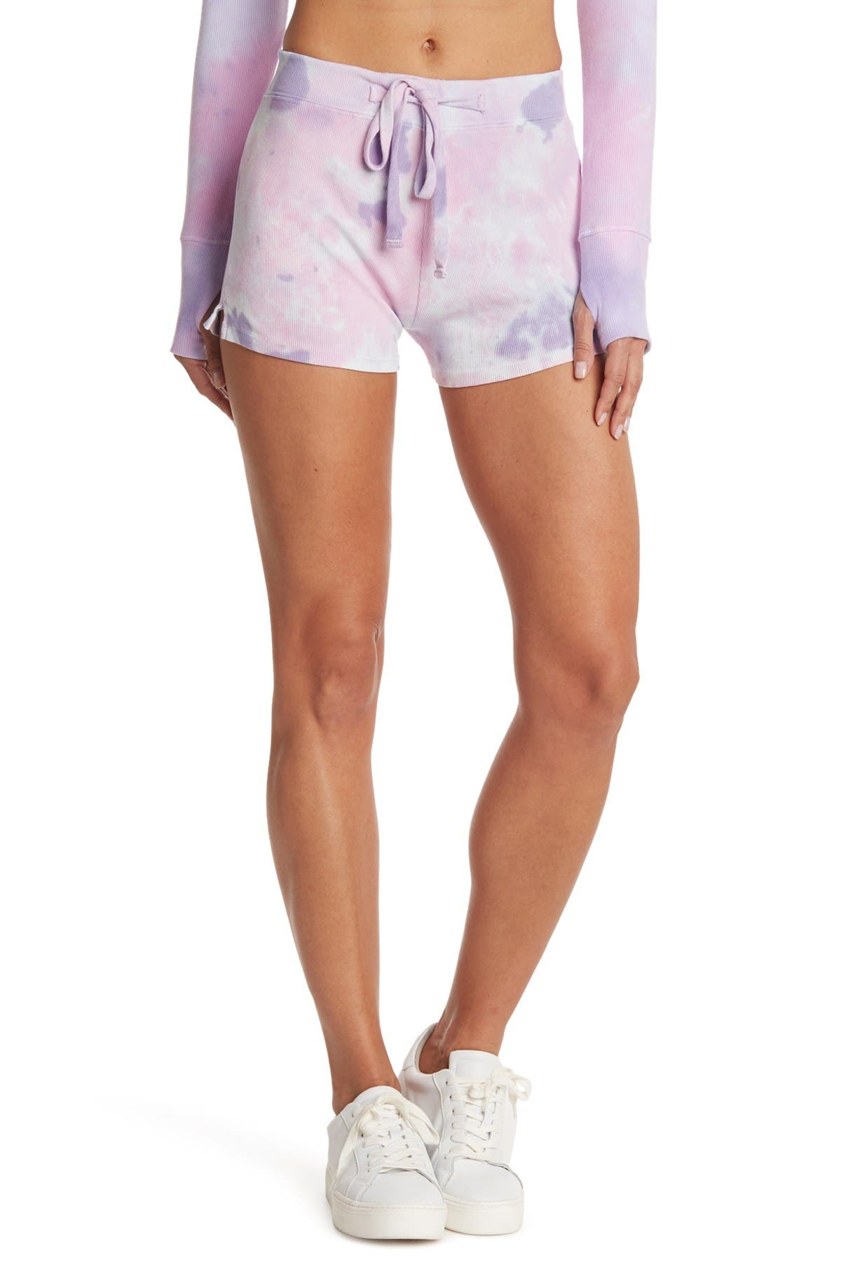 Image of ARX LAB Ribbed Knit Tie Dye Shorts