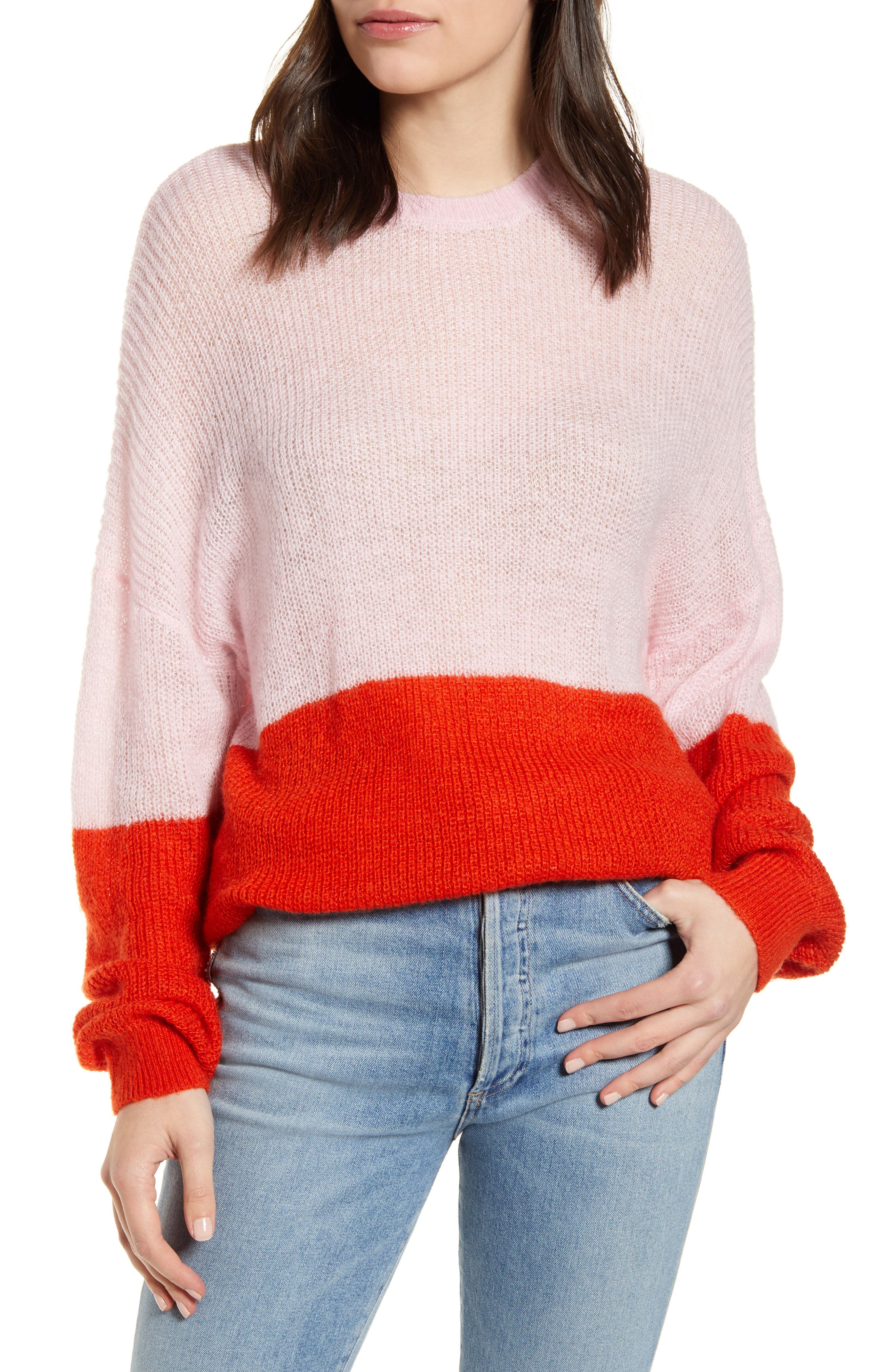 Image of: Cupcakes And Cashmere Janus Two Tone Sweater Nordstrom Rack