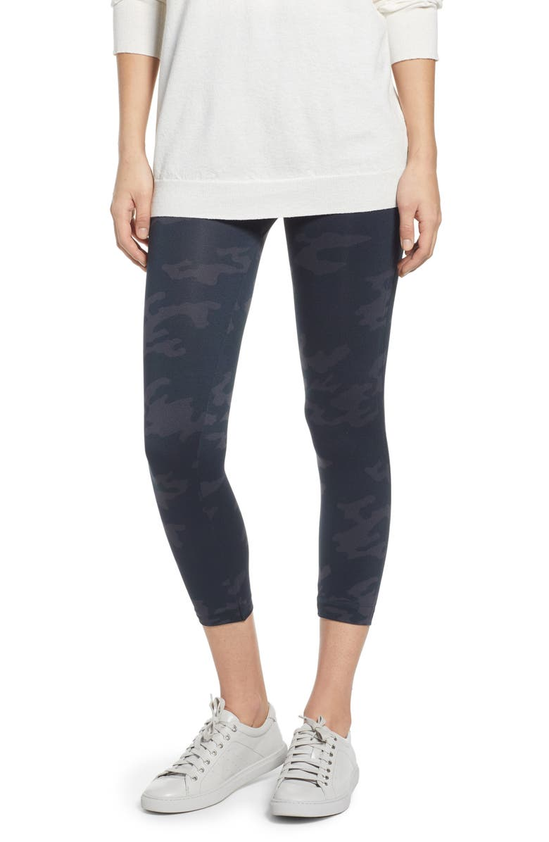 SPANX<SUP>®</SUP> SPANX Look At Me Now Crop Seamless Leggings, Main, color, BLACK CAMO