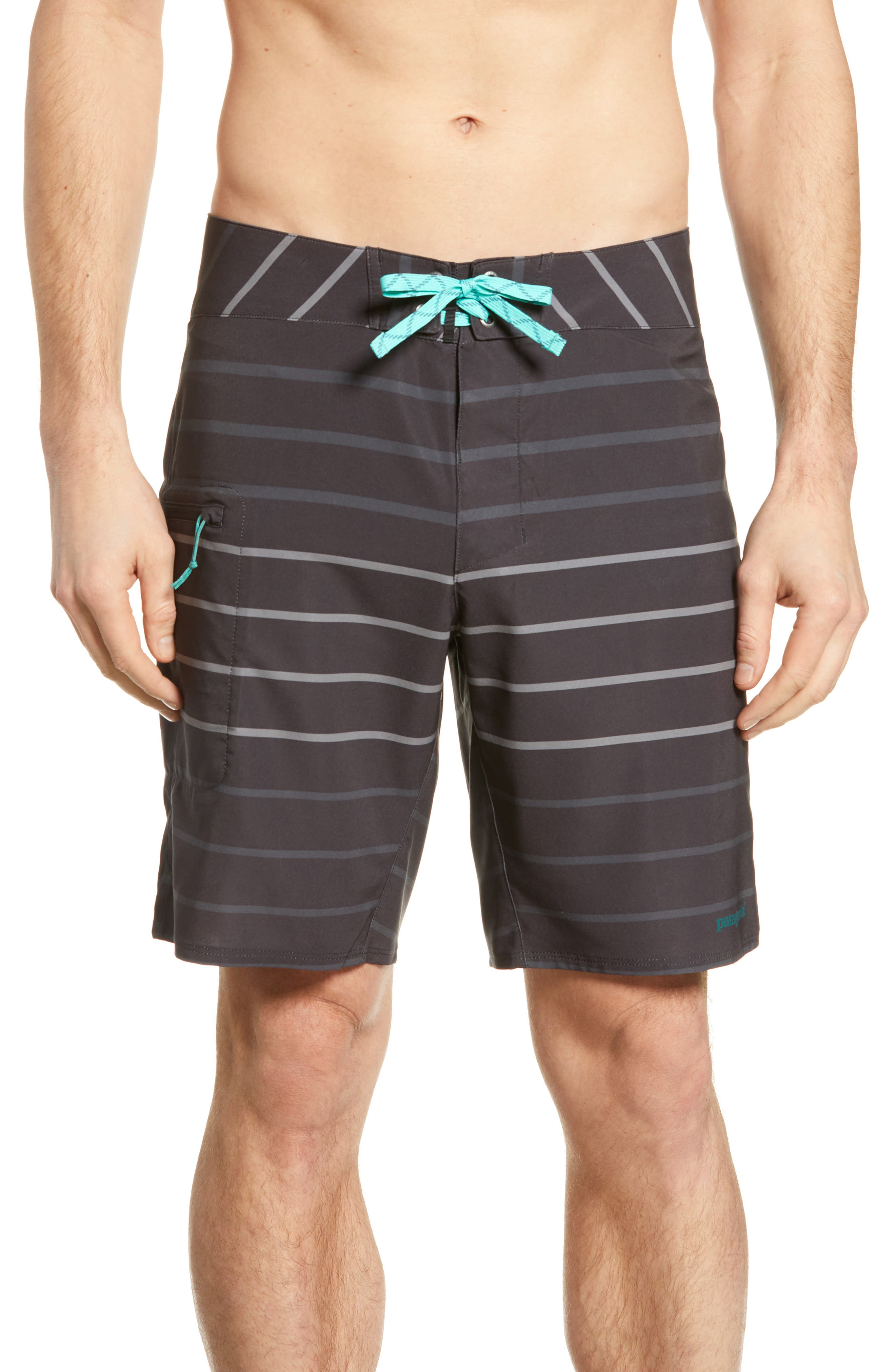 Stretch Planing Swim Trunks, Main, color, BUCKLAND INK BLACK