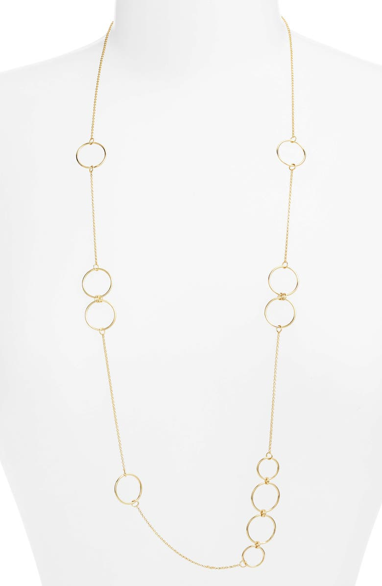 ARGENTO VIVO Links Station Wrap Necklace, Main, color, 710