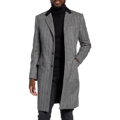 Rag & Bone Rory Classic Fit Wool Blend Coat, Black