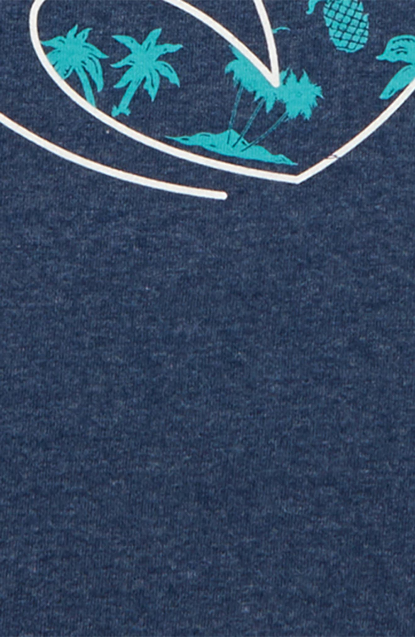 ,                             Tubed Graphic T-Shirt,                             Alternate thumbnail 2, color,                             NAVY HEATHER