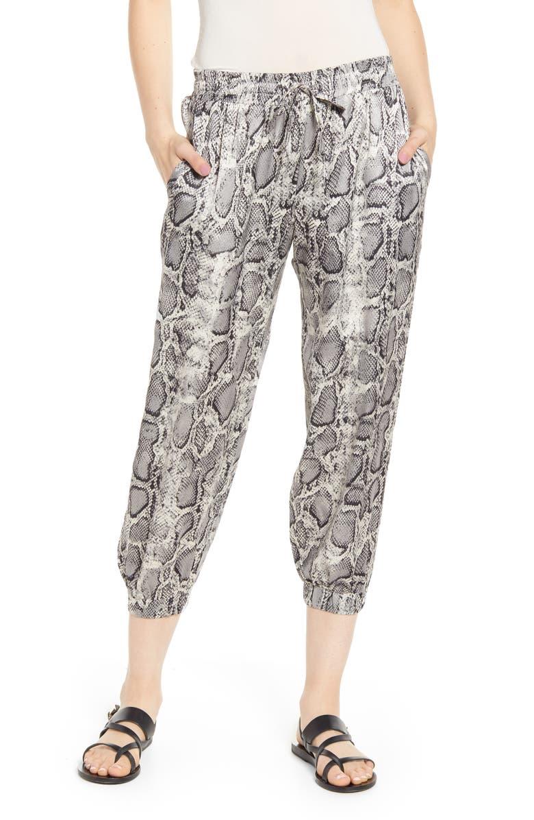 BISHOP + YOUNG Snakeskin Print Jogger Pants, Main, color, 020