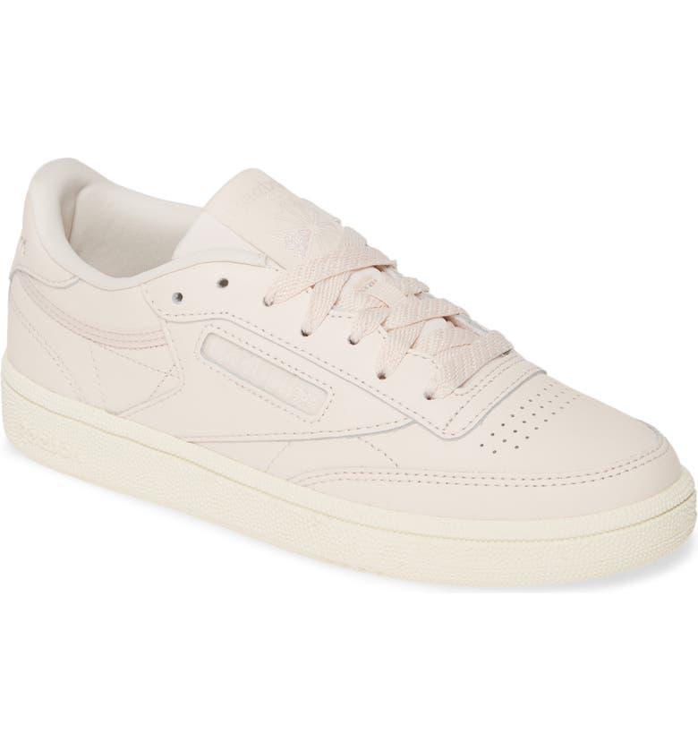 REEBOK Club C 85 Sneaker, Main, color, PALE PINK/ CHALK/ PALE PINK