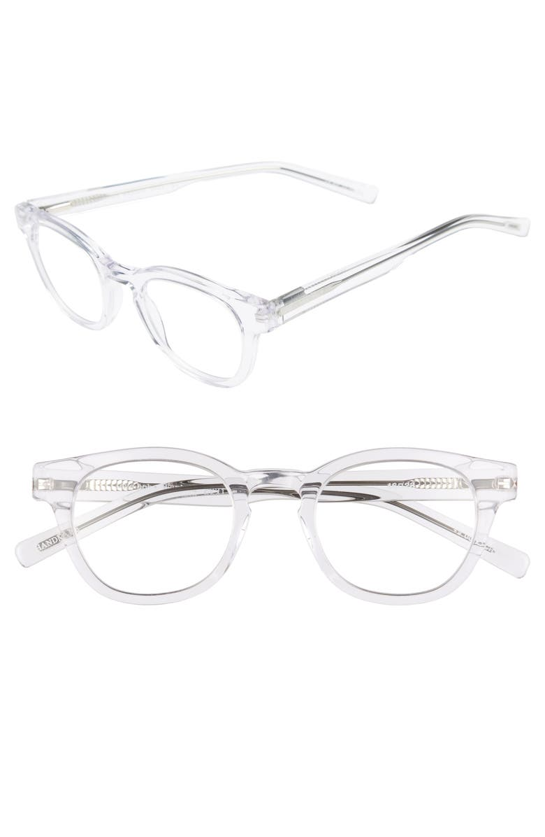 EYEBOBS Waylaid 46mm Reading Glasses, Main, color, CRYSTAL