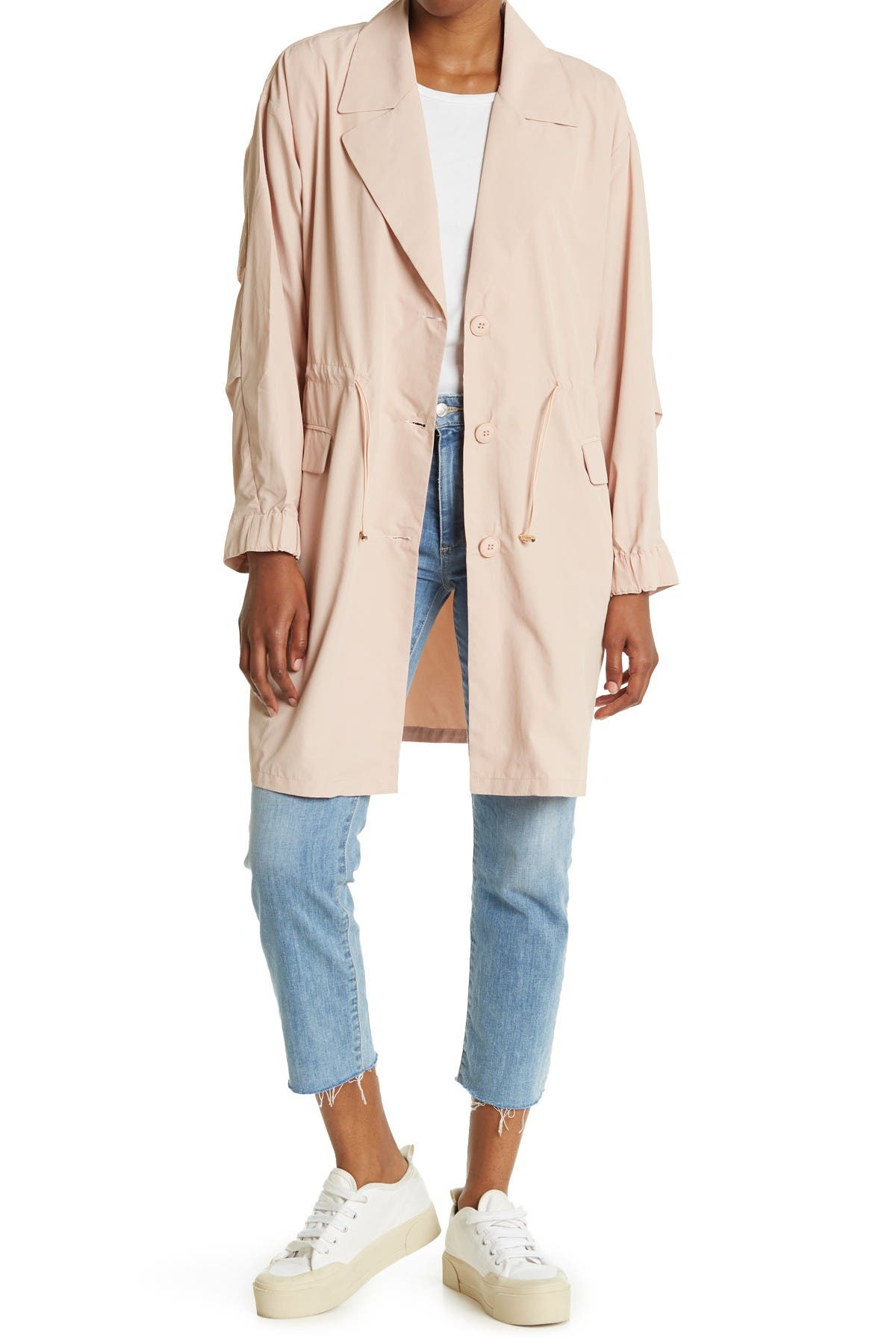Image of SEE U SOON Drawstring Waist Trench Jacket