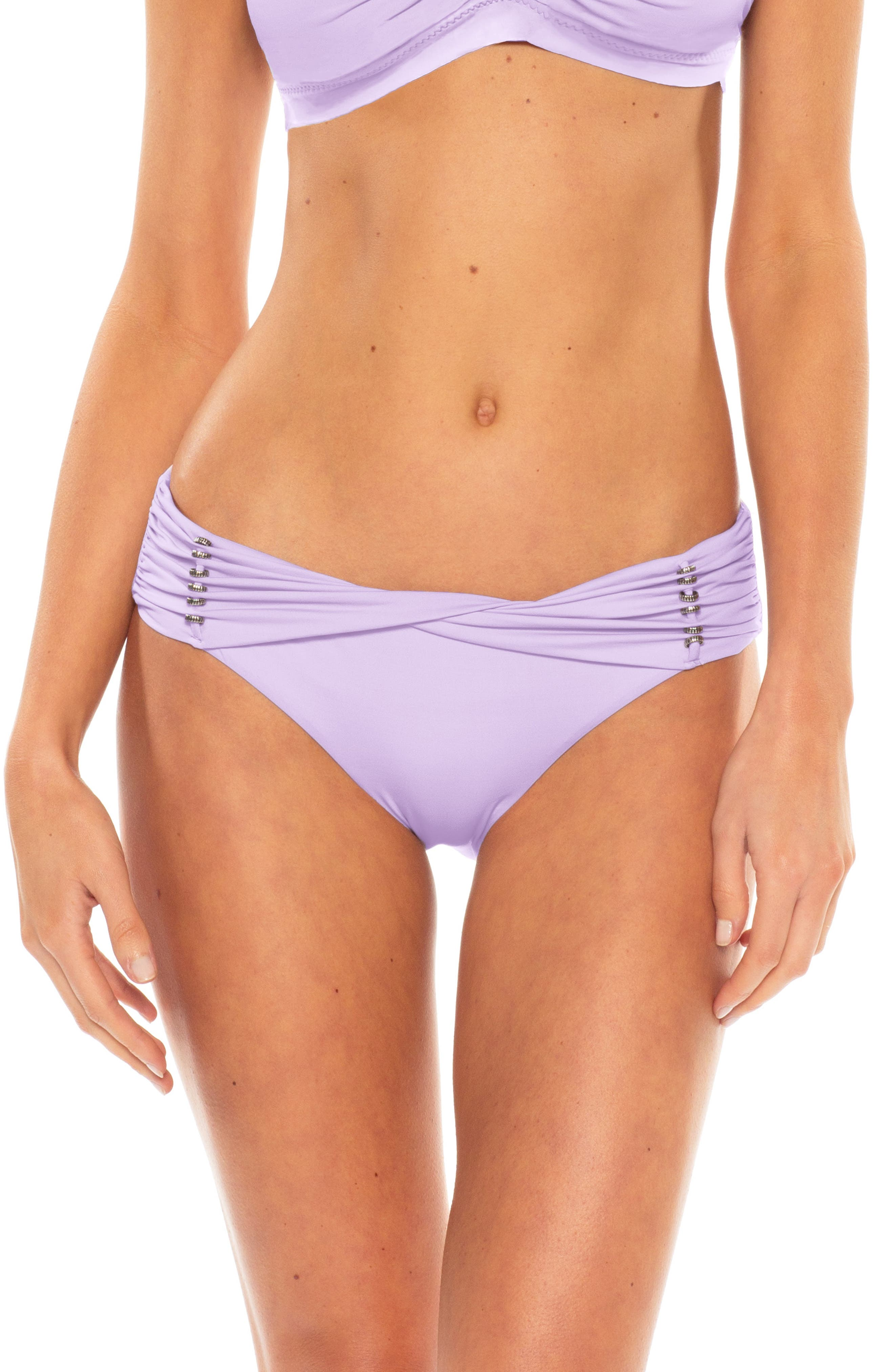 Becca Reconnect Hipster Bikini Bottoms, Purple