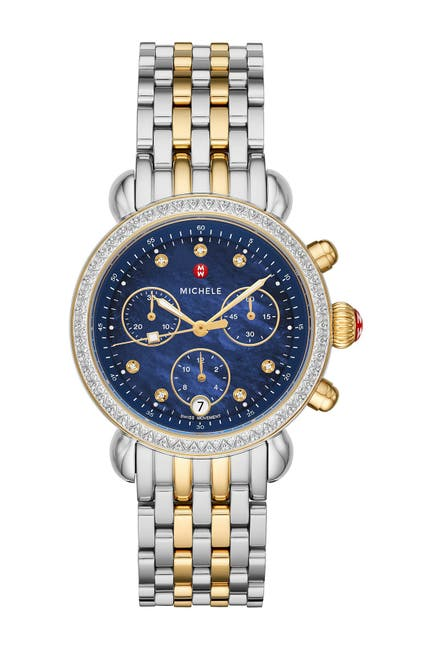 Image of Michele Women's CSX Diamond Embellished Bracelet Watch, 37mm