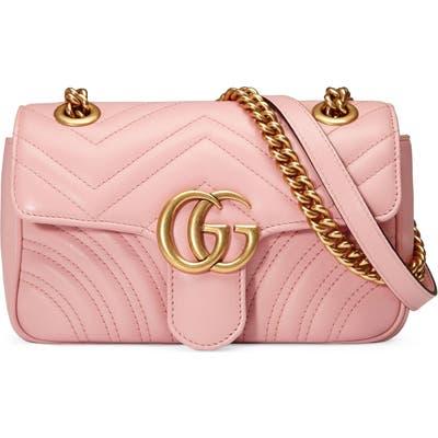 Gucci Mini Gg Marmont 2.0 Matelasse Leather Shoulder Bag - Pink