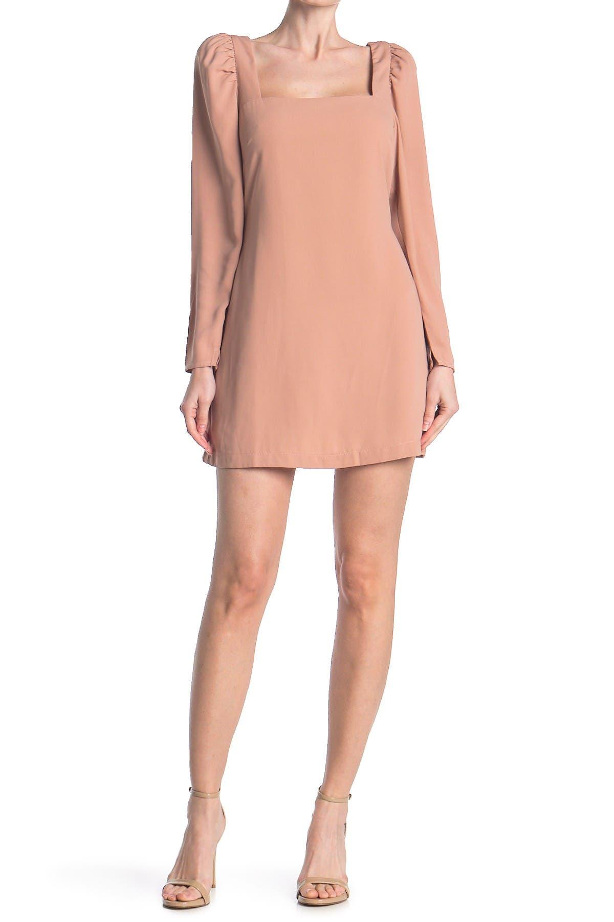 Re:named apparel Allie Puff Sleeve Mini Dress