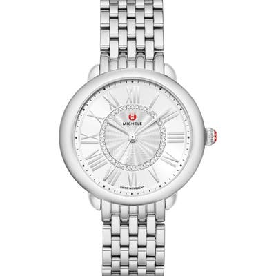 Michele Serein Diamond Bracelet Watch,