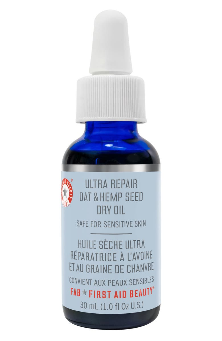 FIRST AID BEAUTY Ultra Repair Oat & Hemp Seed Dry Oil, Main, color, NO COLOR