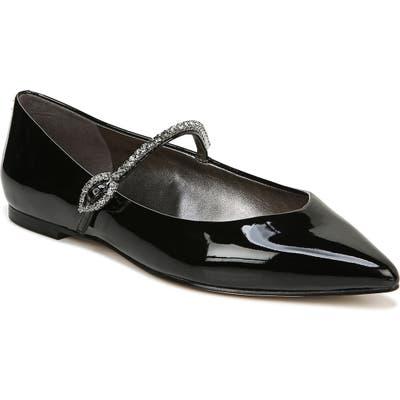 Sam Edelman Rally Crystal Mary Jane Pointed Toe Flat, Black