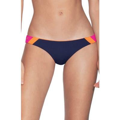 Maaji Caribe Flirt Signature Cut Reversible Bikini Bottoms, Blue