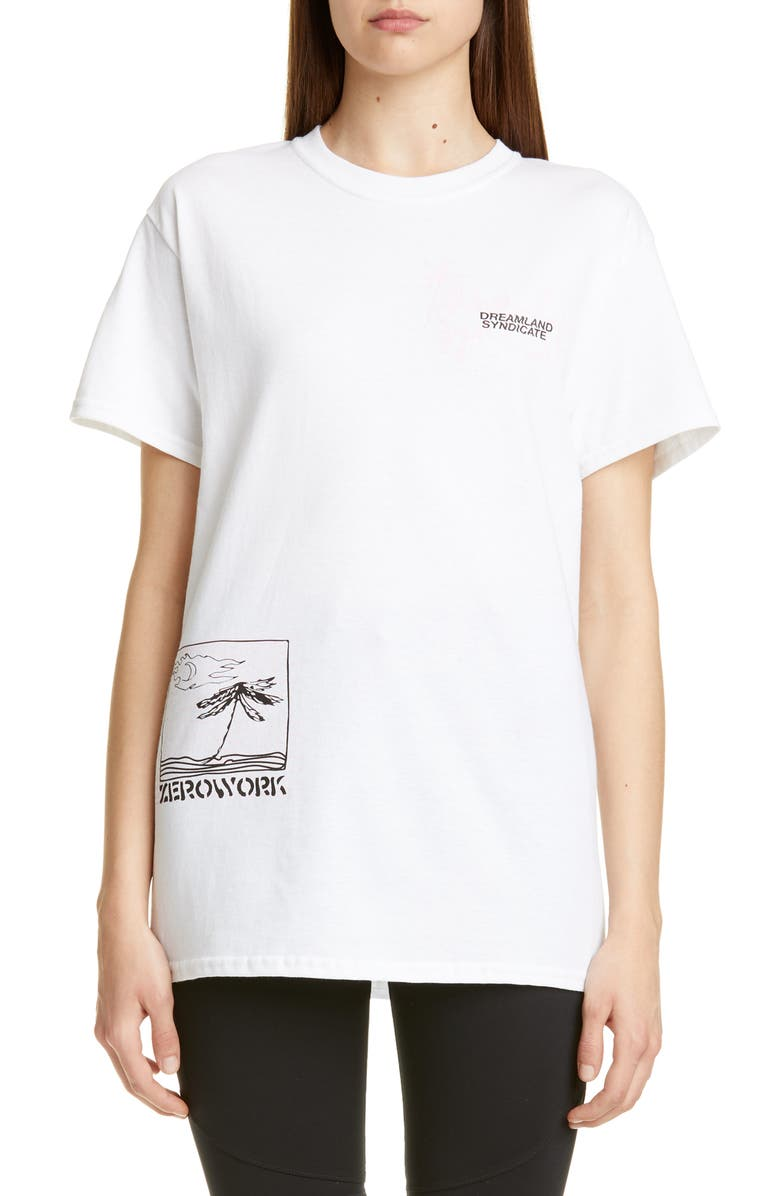 DREAMLAND SYNDICATE Island Graphic Tee, Main, color, WHITE