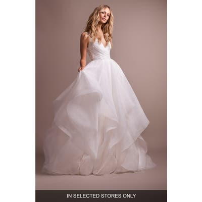 Hayley Paige Dylan V-Neck Low Back Wedding Dress