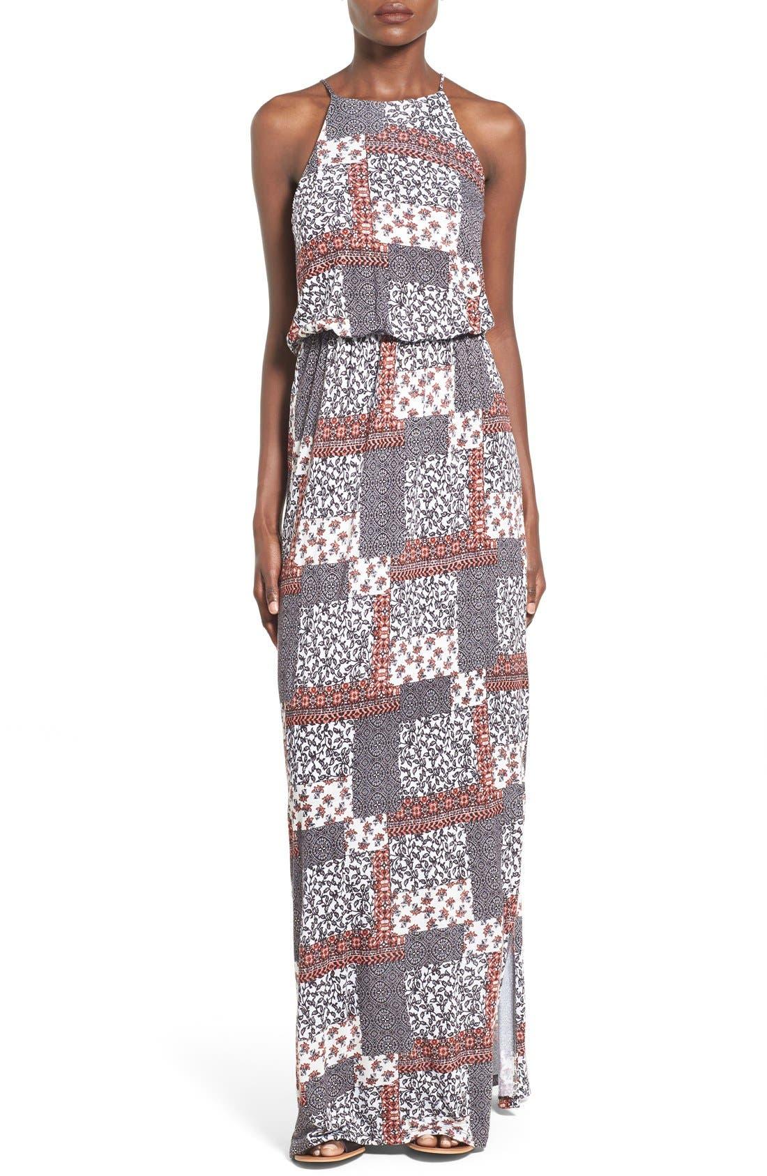 ,                             High Neck Maxi Dress,                             Main thumbnail 54, color,                             220